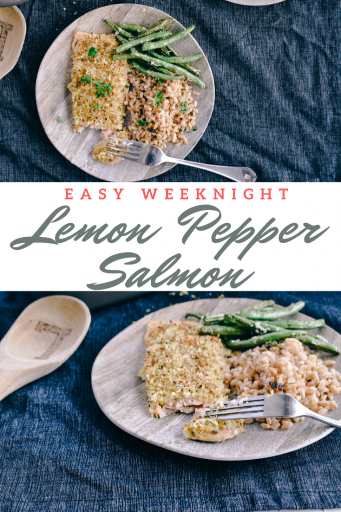 Easy Weeknight Lemon Pepper Salmon  | Simply Nourished Home