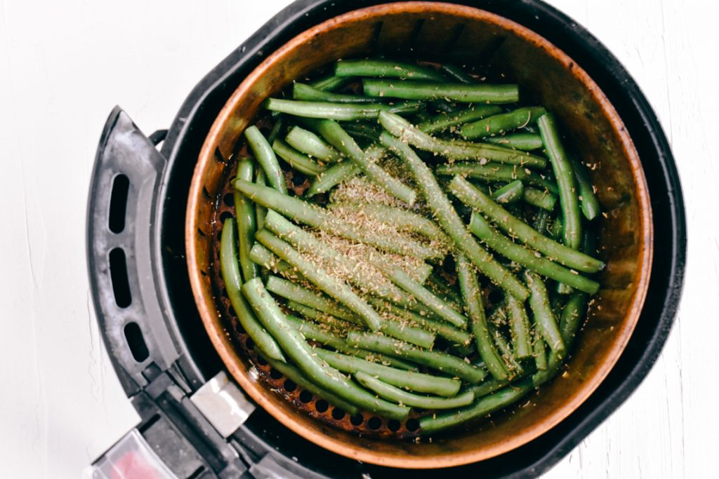 How to make Air Fryer Green Bean Recipe | Simply Nourished Home