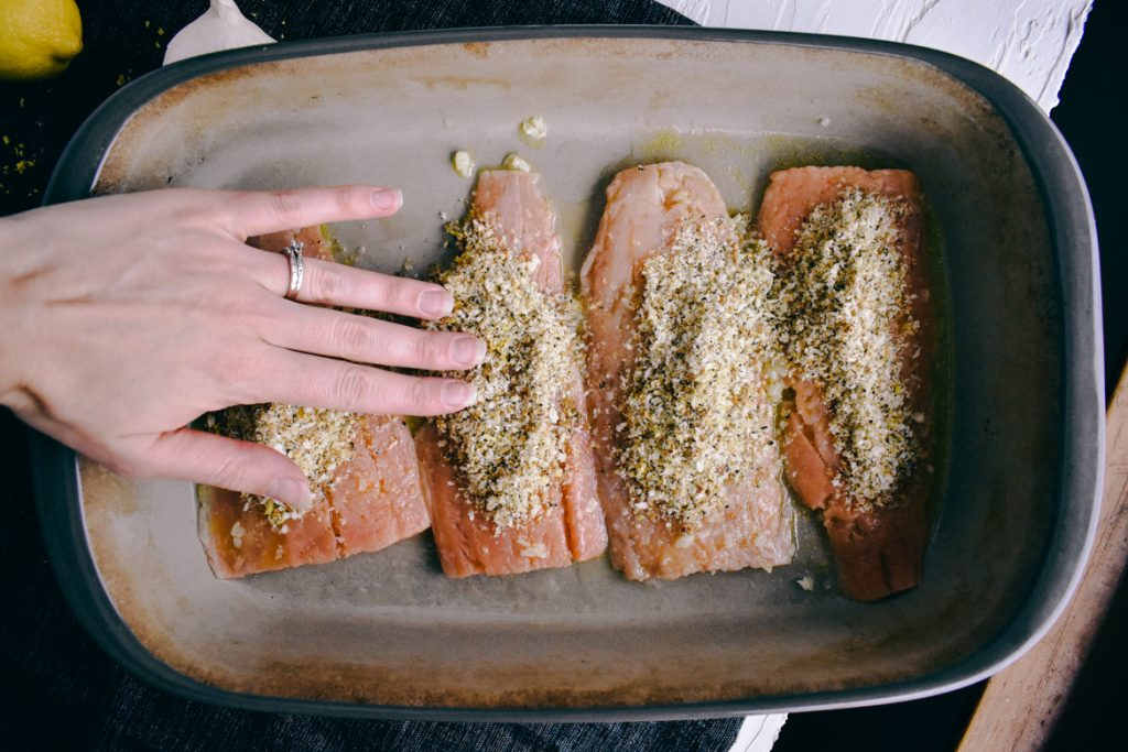 Lemon Pepper Salmon Topping | Simply Nourished Home