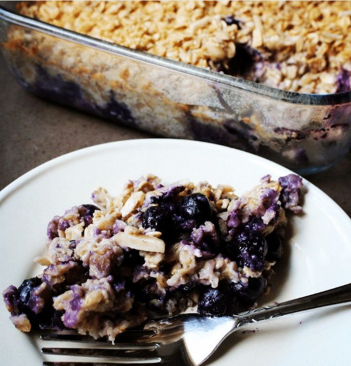 Nutritious Make Ahead Breakfasts for Christmas Morning Round Up  Easiest Blueberry Coconut Oatmeal Bake | SImply Nourished Home