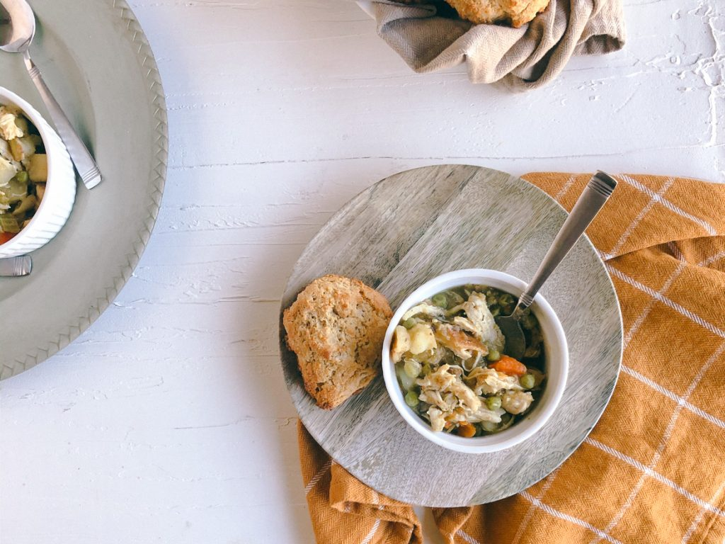 Vegetable and Chicken Stew Pressure Cooker Recipe and Honey Whole Wheat Biscuits | Simply Nourished Home
