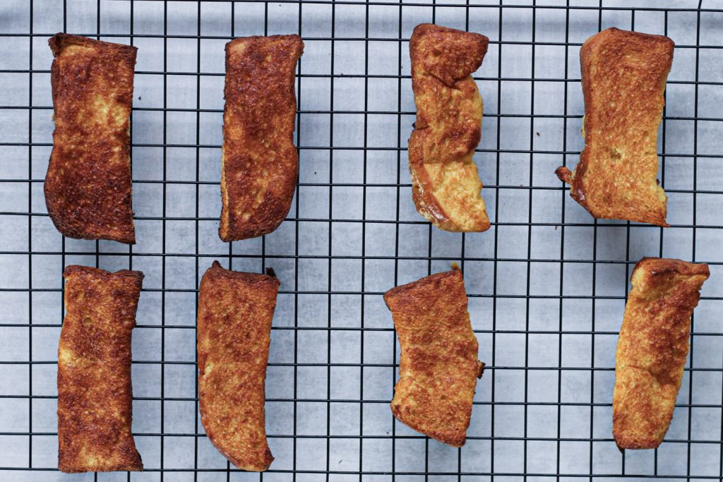 Air Fried French Toast Sticks | SImply Nourished Home