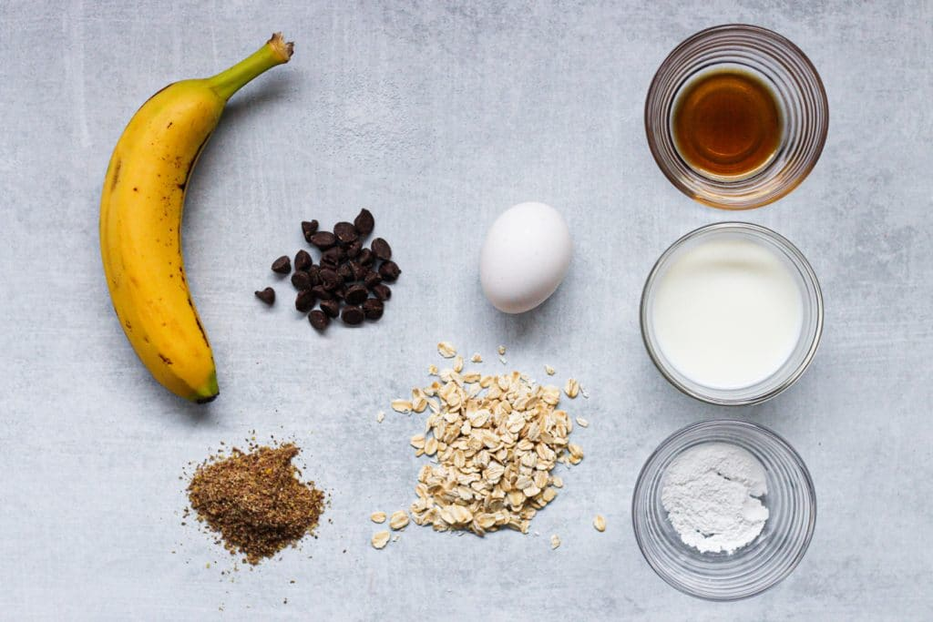 Chocolate Chip Banana Baked Oatmeal  Ingredients | Simply Nourished Home