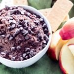 Brownie Batter Dark Chocolate Hummus | Simply Nourished Home