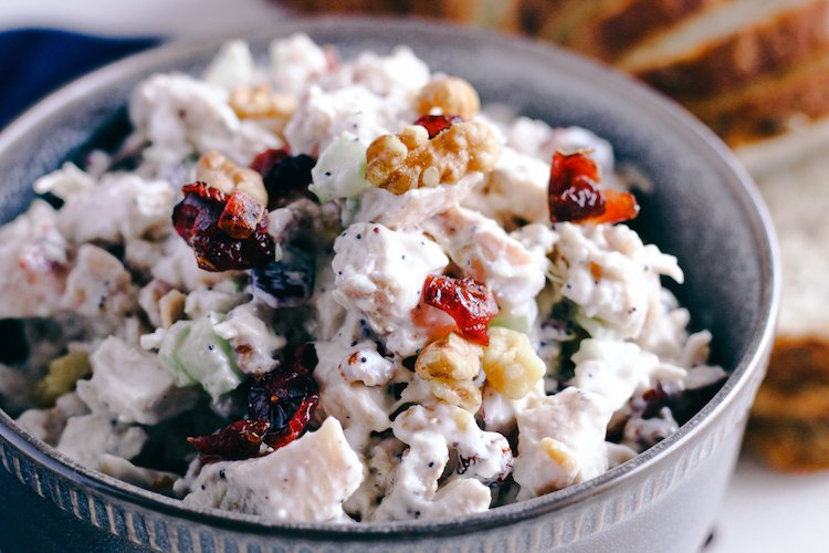 Walnut and Cranberry Chicken Salad | Simply Nourished Home