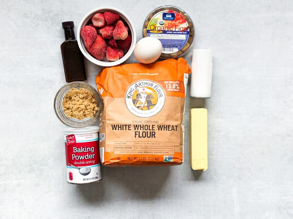 Ingredients for Strawberry Fig Bars