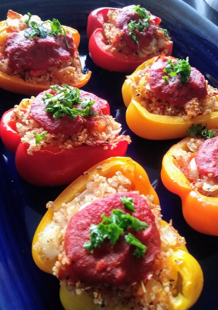 Stuffed Peppers with Butternut Squash and Quinoa | Melissa Traub